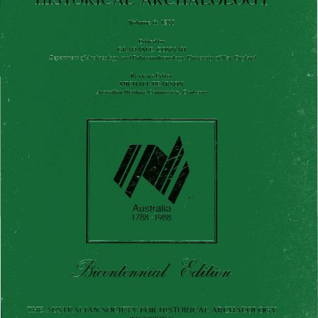 Cover of Australasian Historical Archaeology volume 6 (1988)