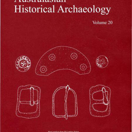 Cover of Australasian Historical Archaeology volume 20 (2002)