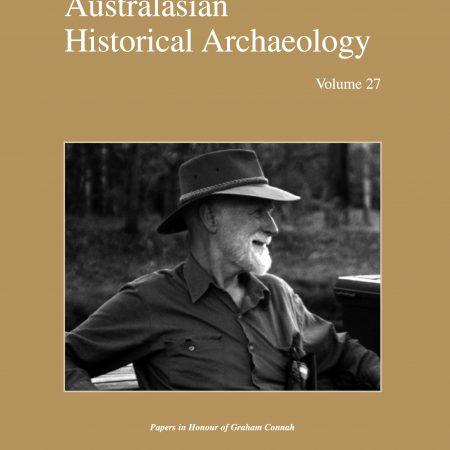 Cover of Australasian Historical Archaeology volume 27 (2009)