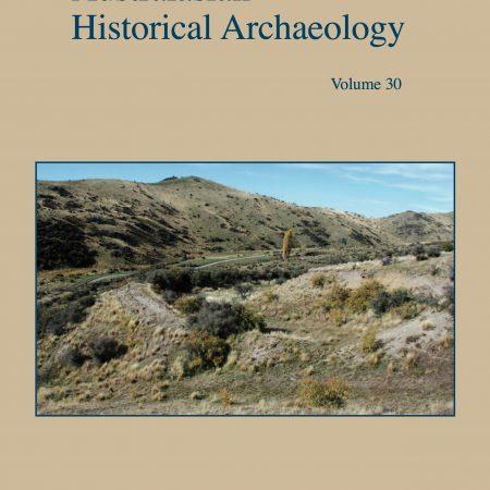 Cover of Australasian Historical Archaeology volume 30 (2012)
