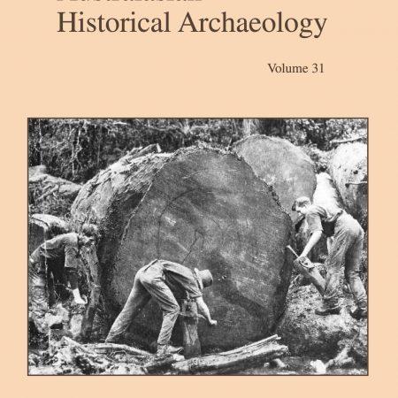 Cover of Australasian Historical Archaeology volume 31 (2013)